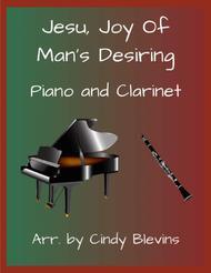 Jesu, Joy of Man's Desiring, arranged for Piano and Bb Clarinet