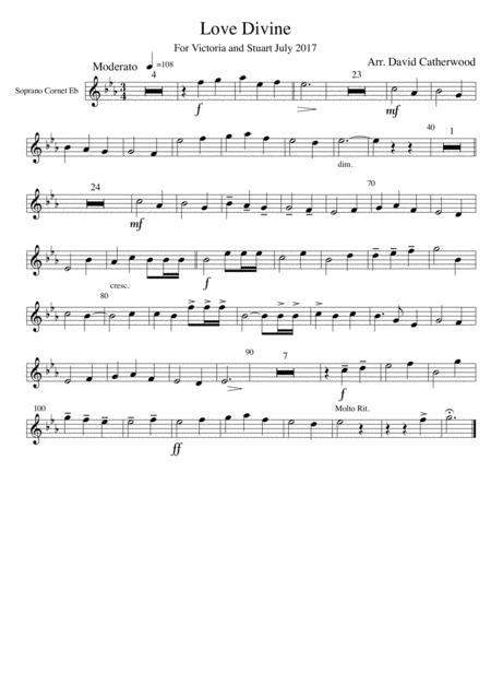 Hymn tune arrangement - Love Divine (Blaenwern) by David Catherwood