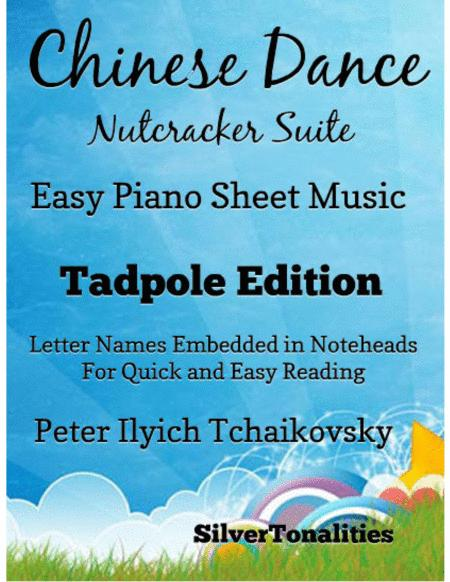 Chinese Dance the Nutcracker Suite Easy Piano Sheet Music Tadpole Edition