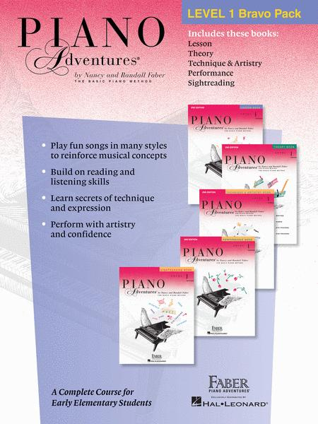 Piano Adventures Level 1 Bravo Pack