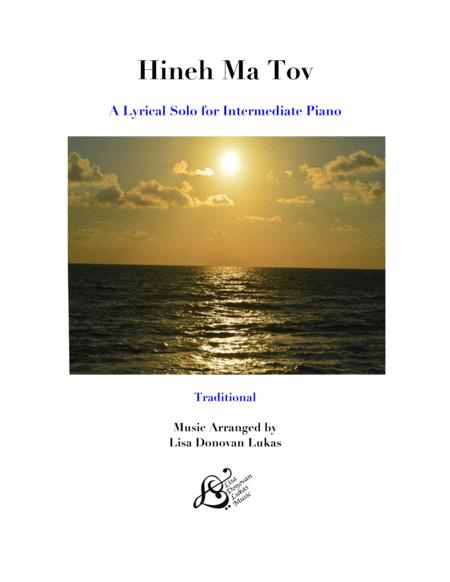 Hineh Ma Tov for  Solo Piano