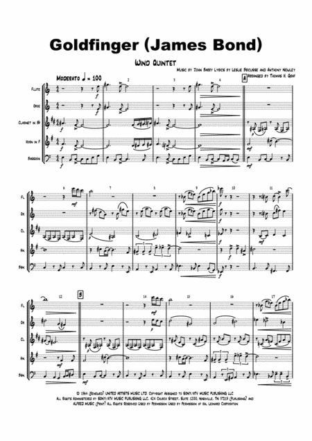 Goldfinger - James Bond - Wind Quintet