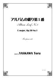 Album Leaf No.1, E major, for piano solo, Op.50-1