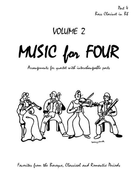 Music for Four, Volume 2, Part 4 - Bass Clarinet 70243DD