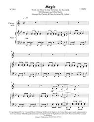 Coldplay: Magic for Clarinet & Piano