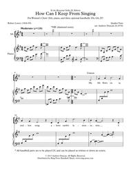 How Can I Keep from Singing - SSAA and piano