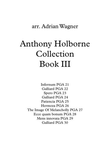 Anthony Holborne Collection Book III Brass Quintet arr. Adrian Wagner