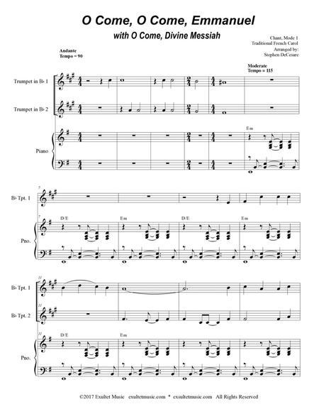 O Come, O Come, Emmanuel with O Come, Divine Messiah (Duet for Bb-Trumpet)