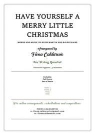 Have Yourself A Merry Little Christmas - in the style of Mozart - for string quartet