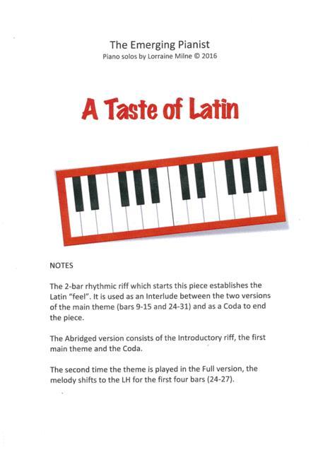 A Taste of Latin