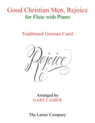GOOD CHRISTIAN MEN, REJOICE (Flute with Piano & Score/Part)