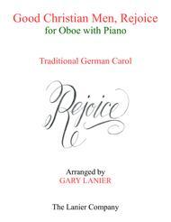 GOOD CHRISTIAN MEN, REJOICE (Oboe with Piano & Score/Part)