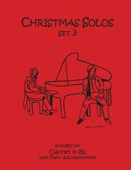 Christmas Solos for Clarinet & Piano Set 3