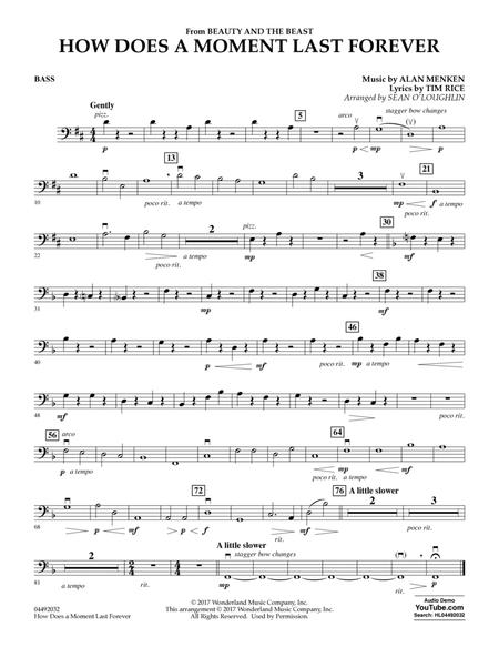How Does a Moment Last Forever (from Beauty and the Beast) - Bass