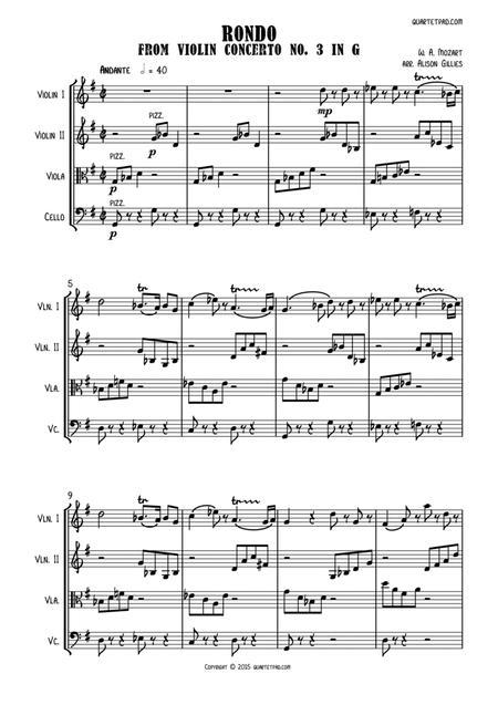 Mozart Rondo from Master & Commander - String Quartet