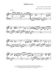 Endless Love - Lionel Richie - arranged for harp