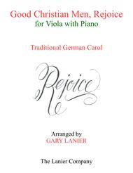 GOOD CHRISTIAN MEN, REJOICE (Viola with Piano & Score/Part)