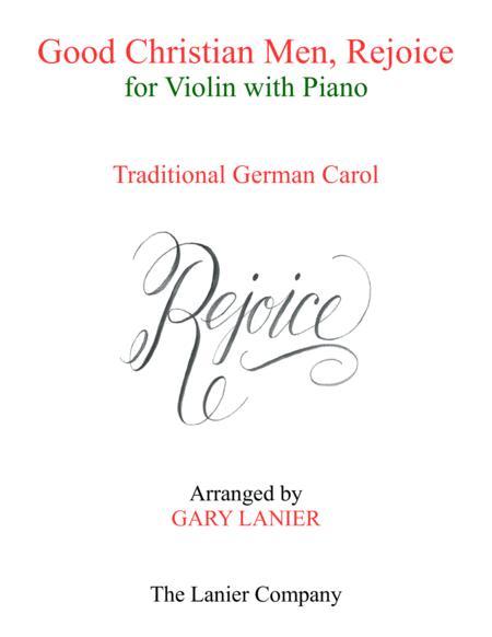 GOOD CHRISTIAN MEN, REJOICE (Violin with Piano & Score/Part)