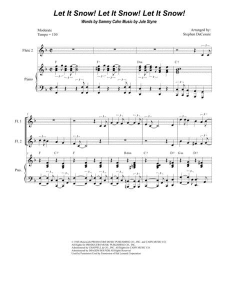 Let It Snow! Let It Snow! Let It Snow! (for Flute Choir)