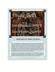 Jingle Bells for Intermediate Saxophone Quartet
