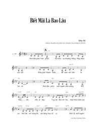 Biết Mãi Là Bao Lâu (vocals & chords)