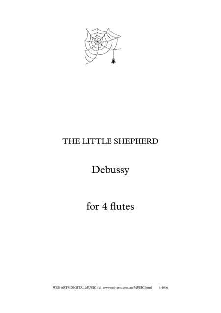 DEBUSSY THE LITTLE SHEPHERD  arranged for 4 flutes