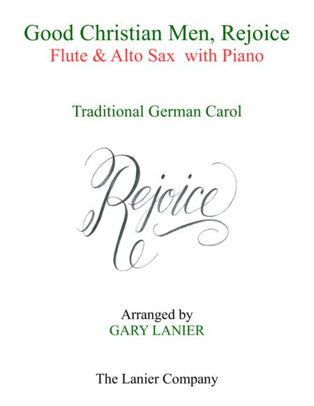 GOOD CHRISTIAN MEN, REJOICE (Flute, Alto Sax with Piano & Score/Part)