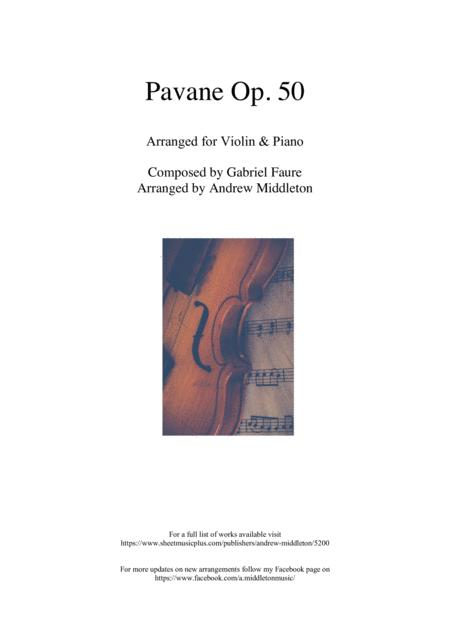Pavane Op. 50 for Violin and Piano