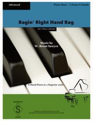 Ragin' Right Hand Rag (Piano Duet - 1 Piano 4 Hands)