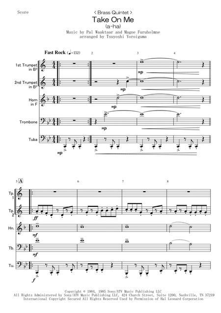 < Brass Quintet > Take On Me (a-ha)