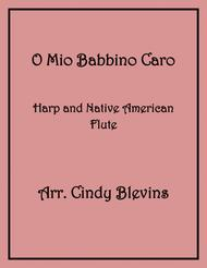 O Mio Babbino Caro, arranged for Harp and Native American Flute, from my book