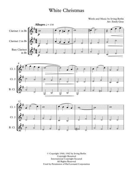 White Christmas (Clarinet Trio)