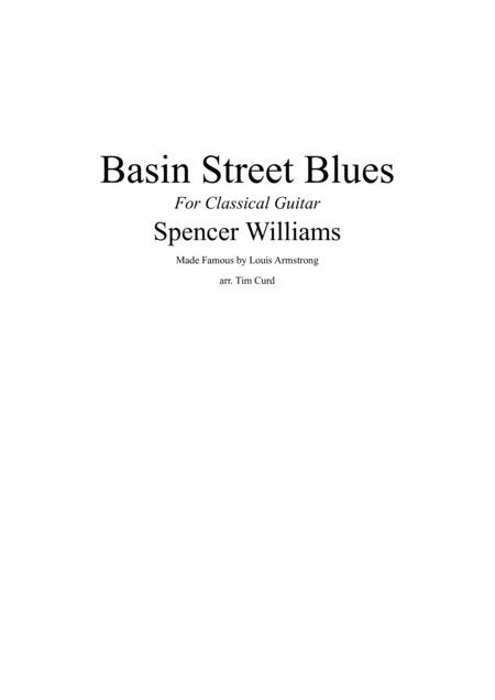 Basin Street Blues. For Classical Guitar