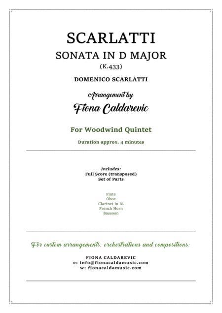 Scarlatti Sonata in D Major K.433 for woodwind quintet