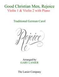 GOOD CHRISTIAN MEN, REJOICE (Violin 1, Violin 2 with Piano & Score/Parts)