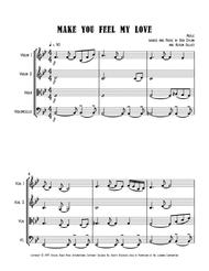 Make you feel my love string quartet pdf