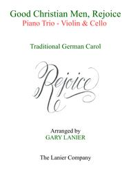 GOOD CHRISTIAN MEN, REJOICE (Violin, Cello with Piano & Score/Parts)