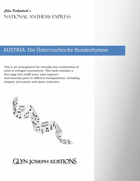 Austria National Anthem: Die Österreichische Bundeshymne