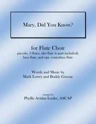 Mary, Did You Know? for Flute Choir