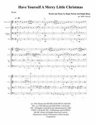 Have Yourself A Merry Little Christmas - BRASS QUARTET