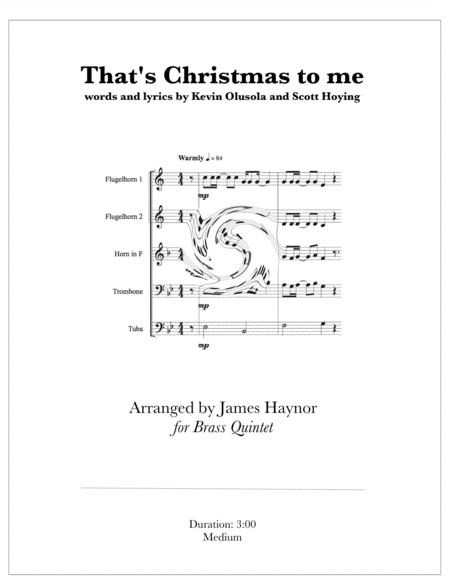 Christmas To Me Lyrics.Download That S Christmas To Me For Brass Quintet Sheet