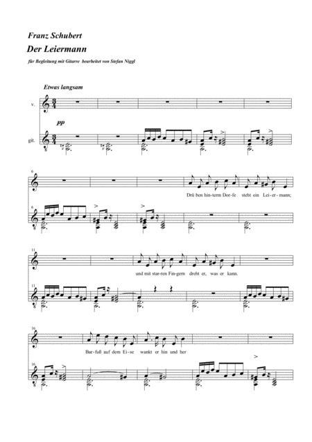 Der Leiermann  for medium voice and guitar ( a minor )