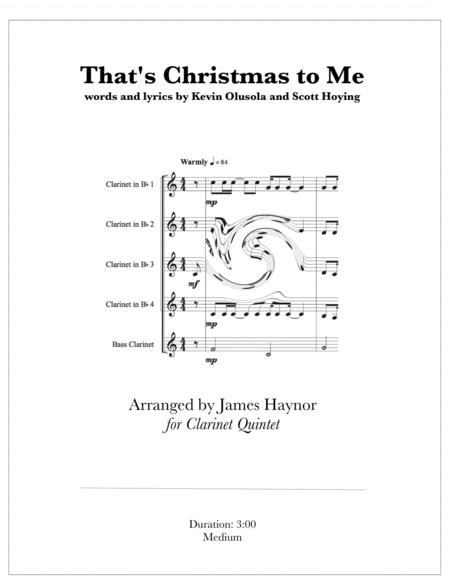 Christmas To Me Lyrics.Download That S Christmas To Me Clarinet Quintet Sheet