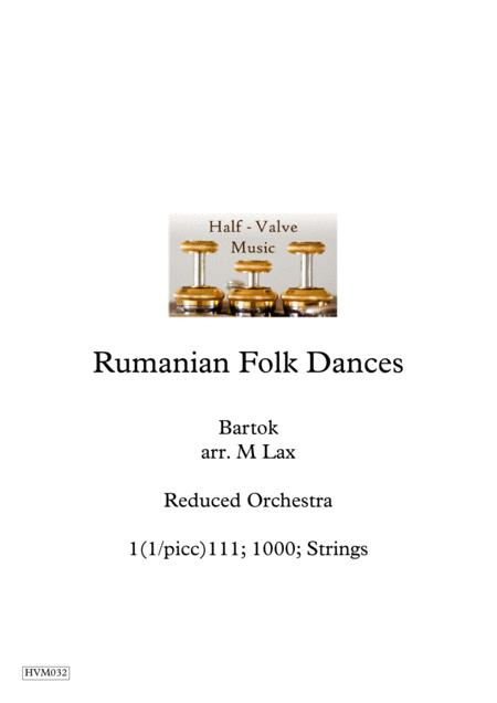 Bartok Rumanian Folk Dances (Reduced orchestra)