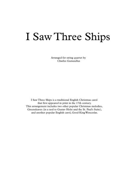 I Saw Three Ships - Christmas - String Quartet