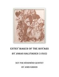 March of the Boyars set for Woodwind Quintet