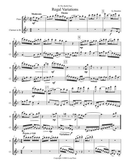 Regal Variations for Flute and Clarinet