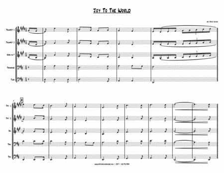 JOY TO THE WORLD - CHRISTMAS BRASS QUINTET By Watts, Handel - Digital Sheet Music For Trumpet ...