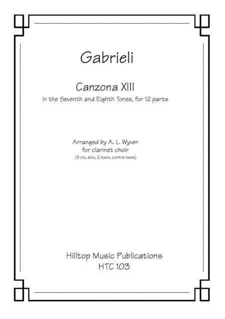 Canzona XIII arr. clarinet choir