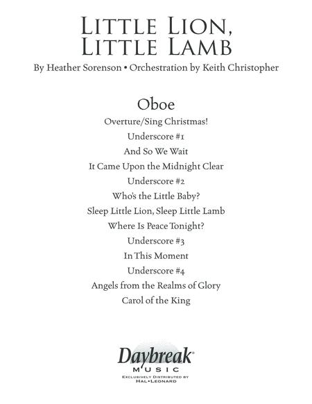 Little Lion, Little Lamb - Oboe
